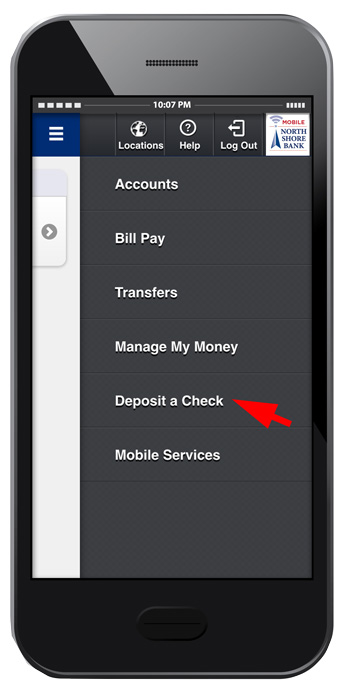 North Shore Bank - Mobile Deposit — North Shore Bank Mobile